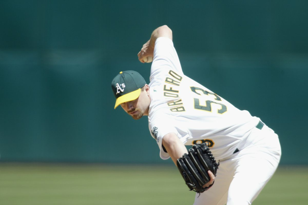 This is not Pat Venditte. This is Chad Bradford. We don't have any pictures of Venditte, so here's one of a different weird pitcher.