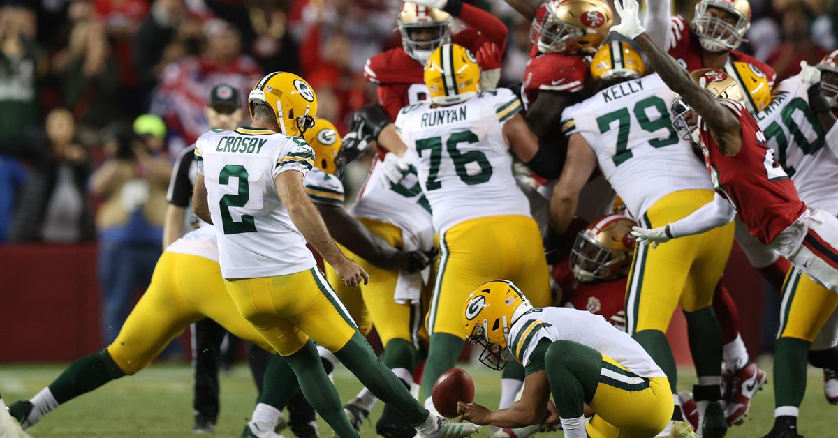 Rodgers, Crosby deliver late in Packers' thrilling 30-28 victory over 49ers