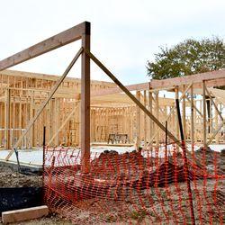 Mid December construction of Bernadine's & Hunky Dory.