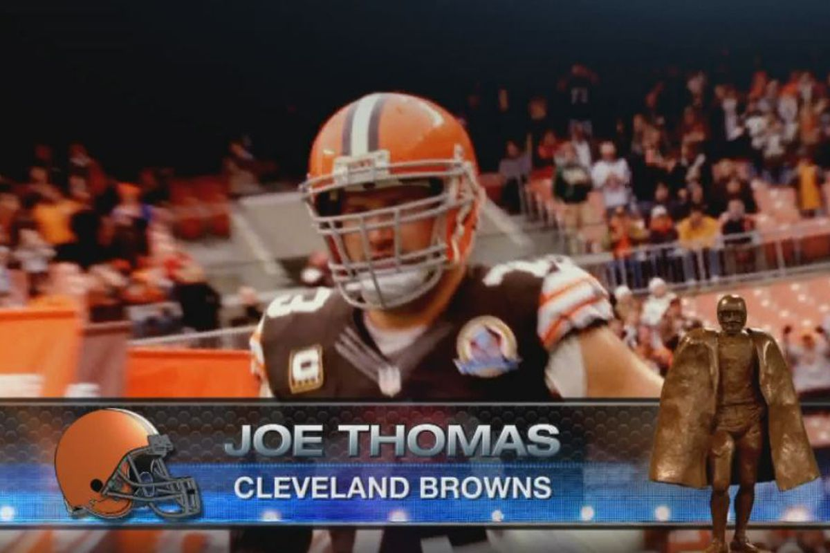 Browns LT Joe Thomas was announced as a finalist for the NFL's Walter Payton Man of the Year Award.