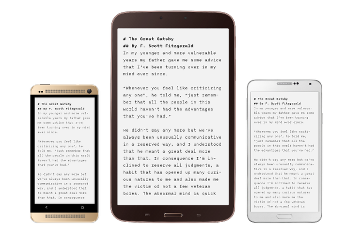 Minimalist text editor ia writer launches on android the for Minimalist writing