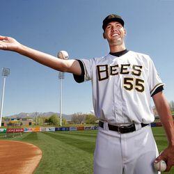 Salt Lake Bees pitcher Loek Van Mil had a respectable 2.04 earned run average last season.