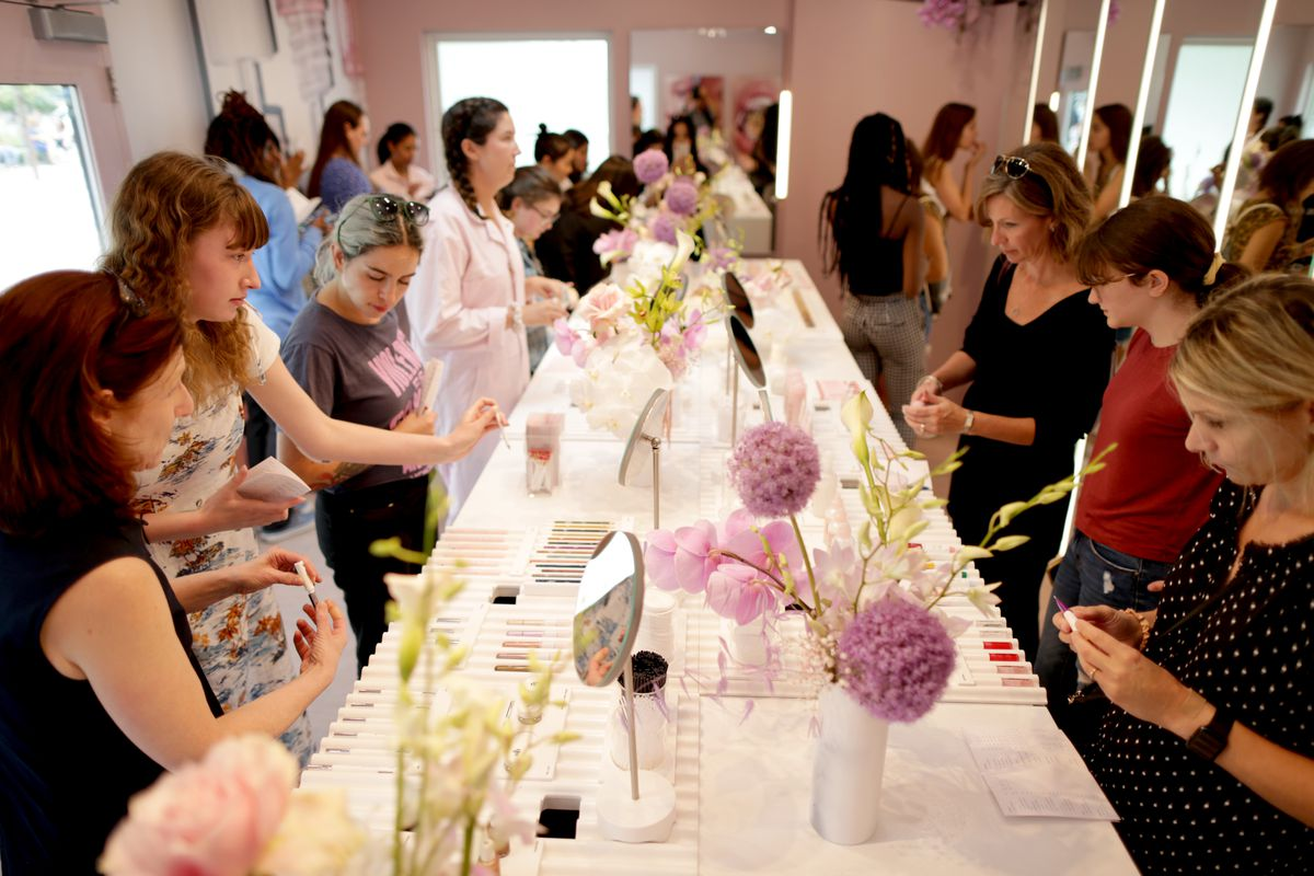 Glossier's pop-up in Boston earlier this summer