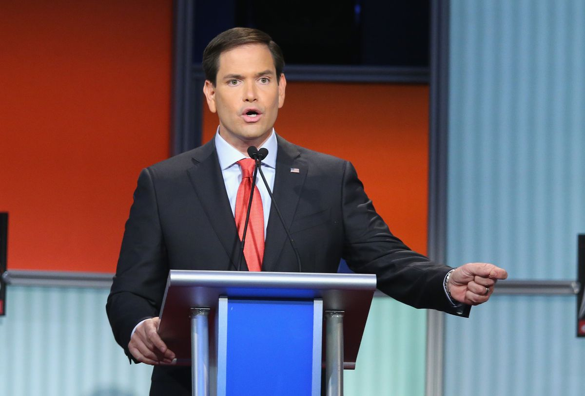 Rubio during the first Republican debate on Aug. 6.
