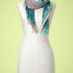 """<a href=""""http://www.gap.com/browse/product.do?cid=71027&vid=1&pid=138560&scid=138560032"""">Gap bordered paisley scarf</a>, $29.95"""