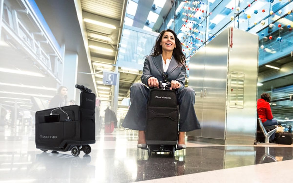 If the future involves me riding my luggage around an for Motorized ride on suitcase