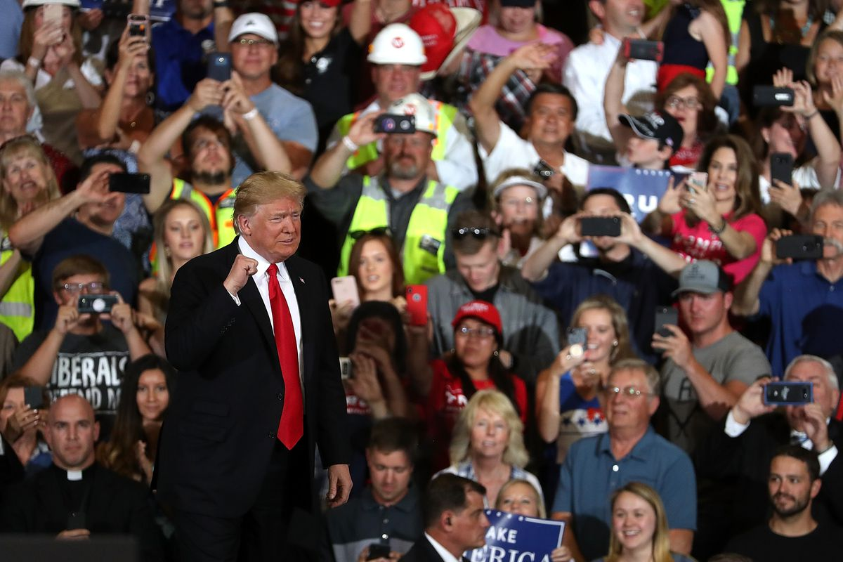 President Trump Holds Rally In Great Falls, Montana