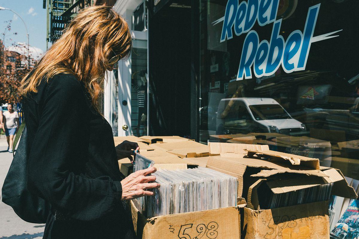 Sophia Lamar shopping at the record store last fall.