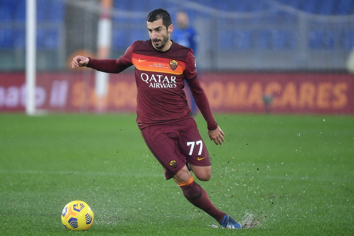 Henrikh Mkhitaryan of AS Roma in action during the Serie A...