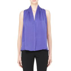 "<b>Theory</b> Deronisa silk top, <a href=""http://www.theory.com/deronisa-sleeveless-top/883591573760,default,pd.html?start=10&cgid=workwear-shirts-tops"">$120</a>"