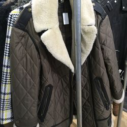 Reeseford quilited moto coat, $374 (from $1,495)