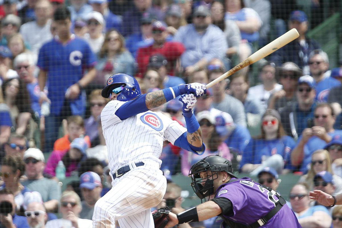 The Cubs' Javy Baez is at 2.8 wins above replacement, according to Fangraphs.com. That is tied for first among National League shortstops.