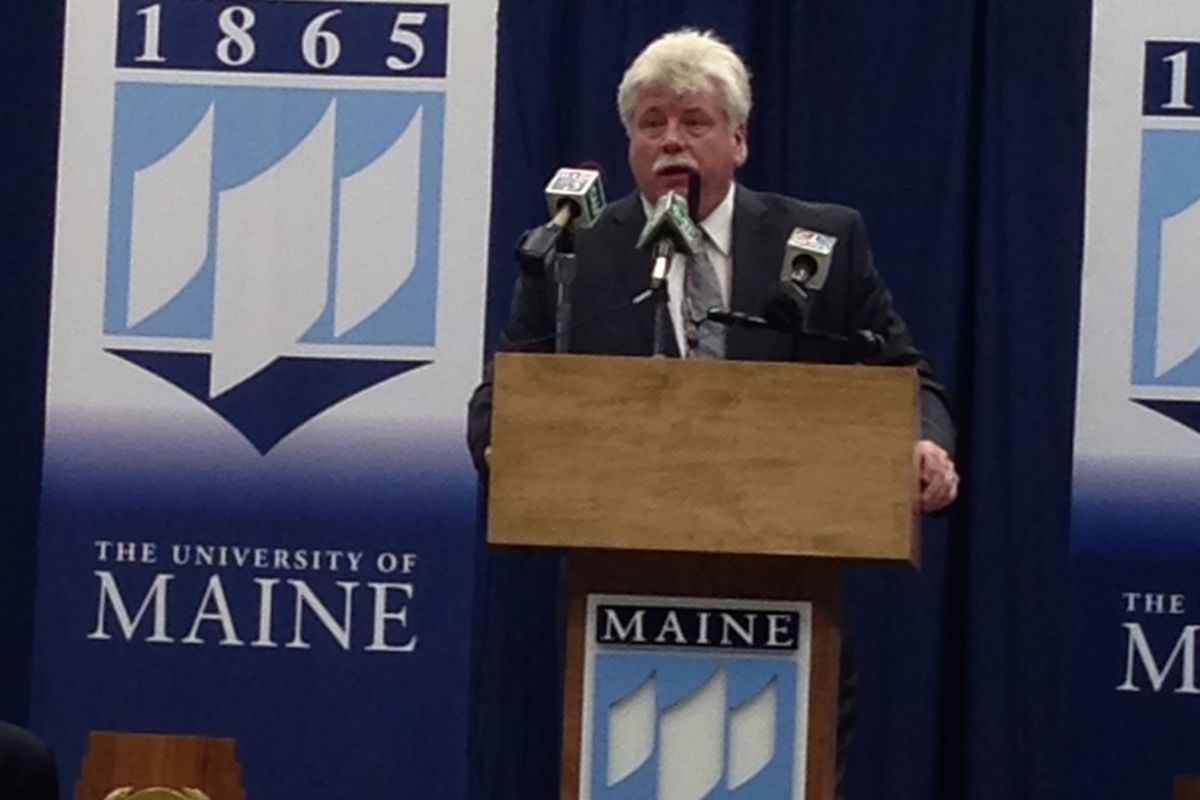 University of Maine hockey coach Red Gendron