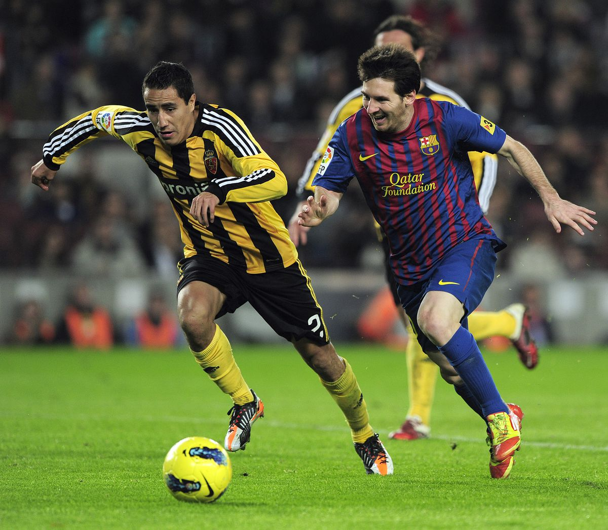 Zaragoza's Mexican defender Efrain Juare