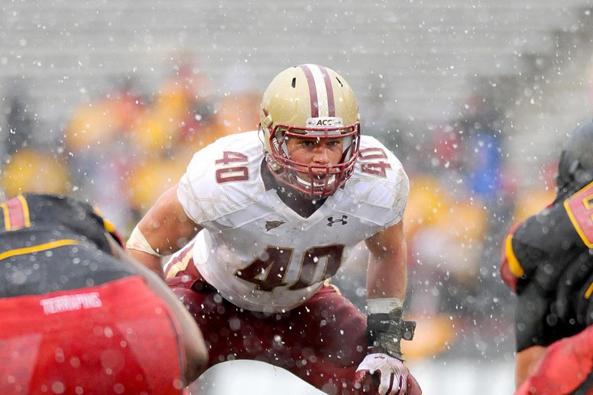 I Have A Hard Time Coming Up With An Adequate Way To Describe Luke Kuechlys At Boston College Outside Of Saying That Calling Him The Best Football