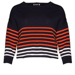 """Pixie Market navy striped sweater, <a href=""""http://www.pixiemarket.com/apparel/knits-sweaters/navy-striped-sweater.html"""">$54</a>"""