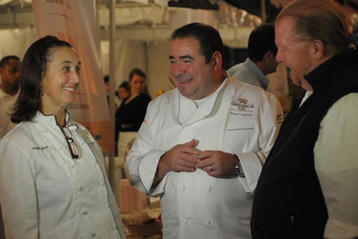 Susan Spicer, Emeril, and Mario Batali at Boudin & Beer