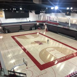 NJIT's new basketball arena can sit around 3,500 fans and opened this past season. It replaced the Fleisher Center, which sat around 1,500 spectators and had bleachers on one side of the court.