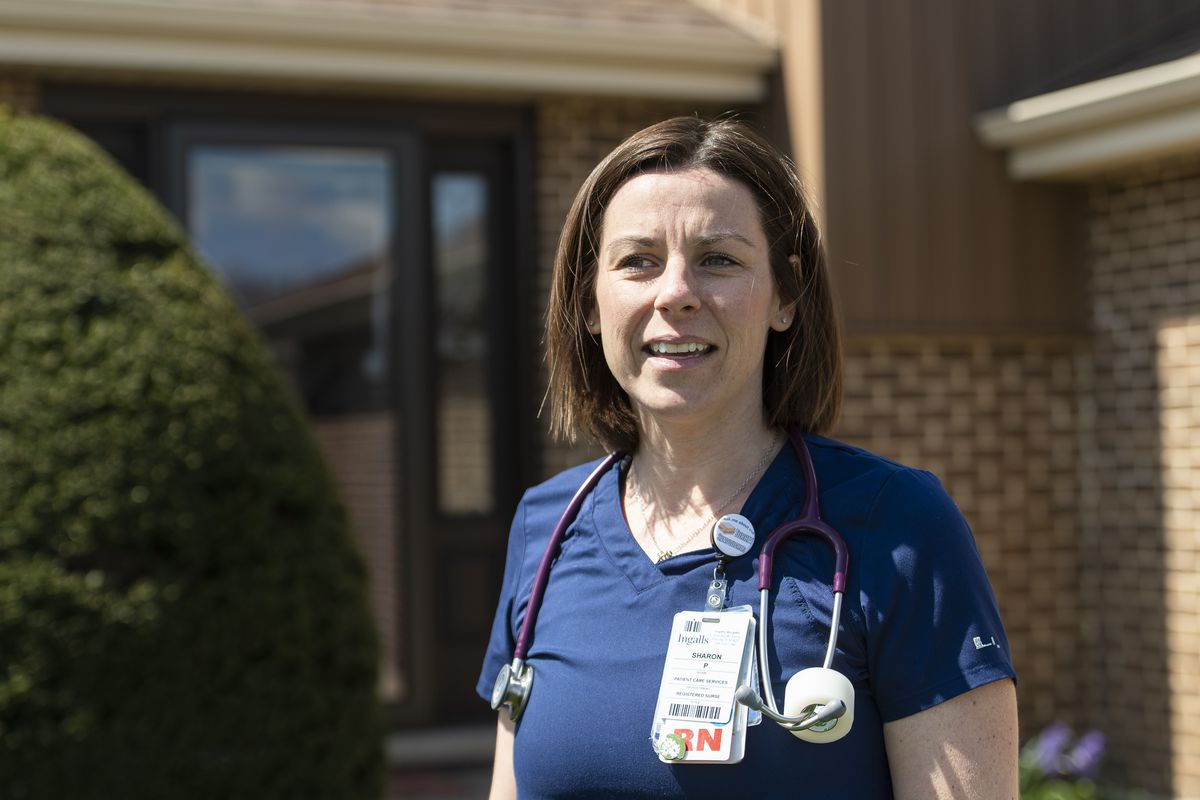 Shari Para, an ICU nurse at Ingalls Memorial Hospital in Harvey, says things have gotten hard, but she still loves what she does.