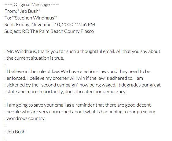Jeb Nov 10 recount email