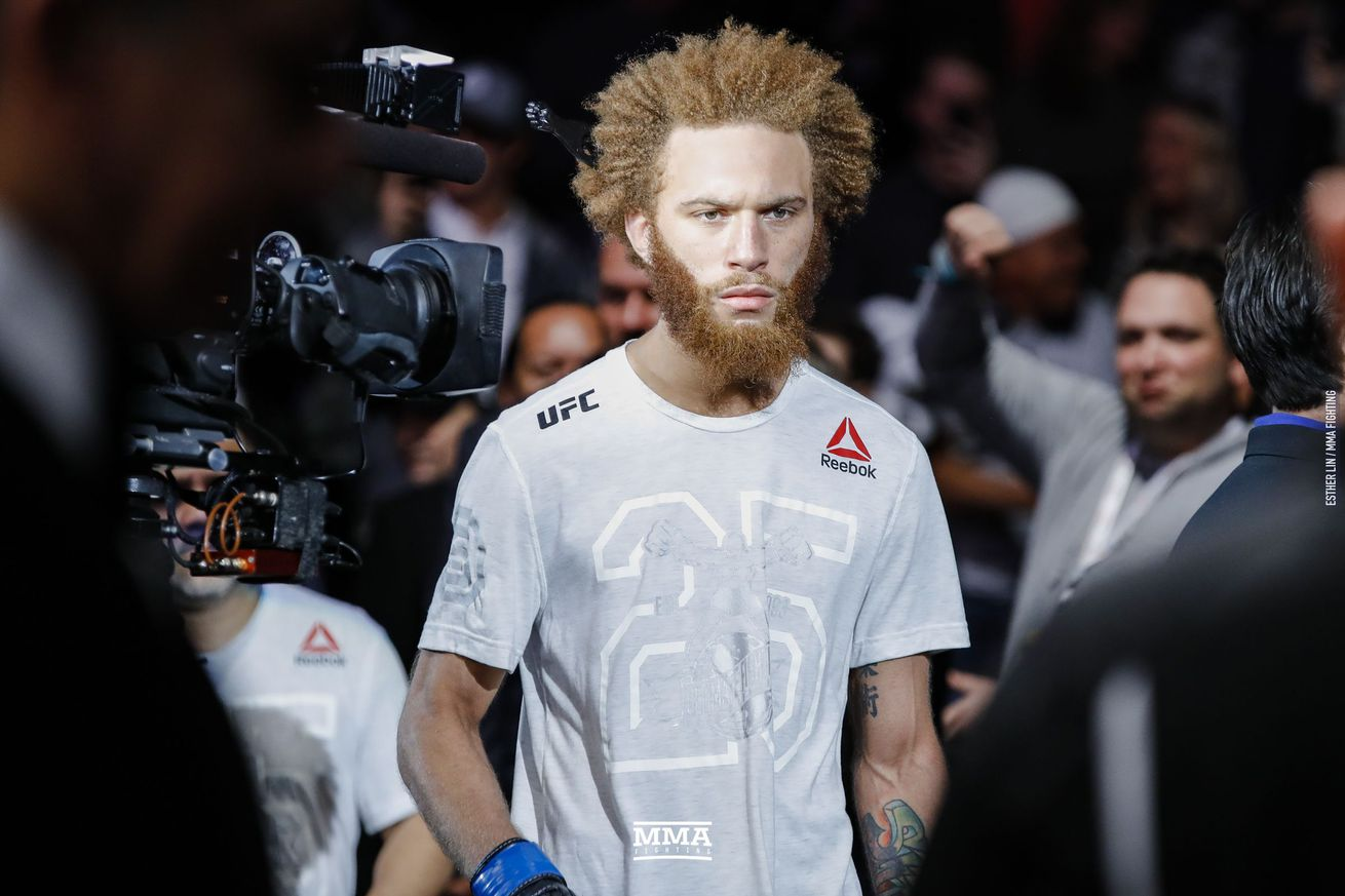 Luis Pena (pictured) fights Steven Peterson in a featherweight bout at UFC Nashville on March 23