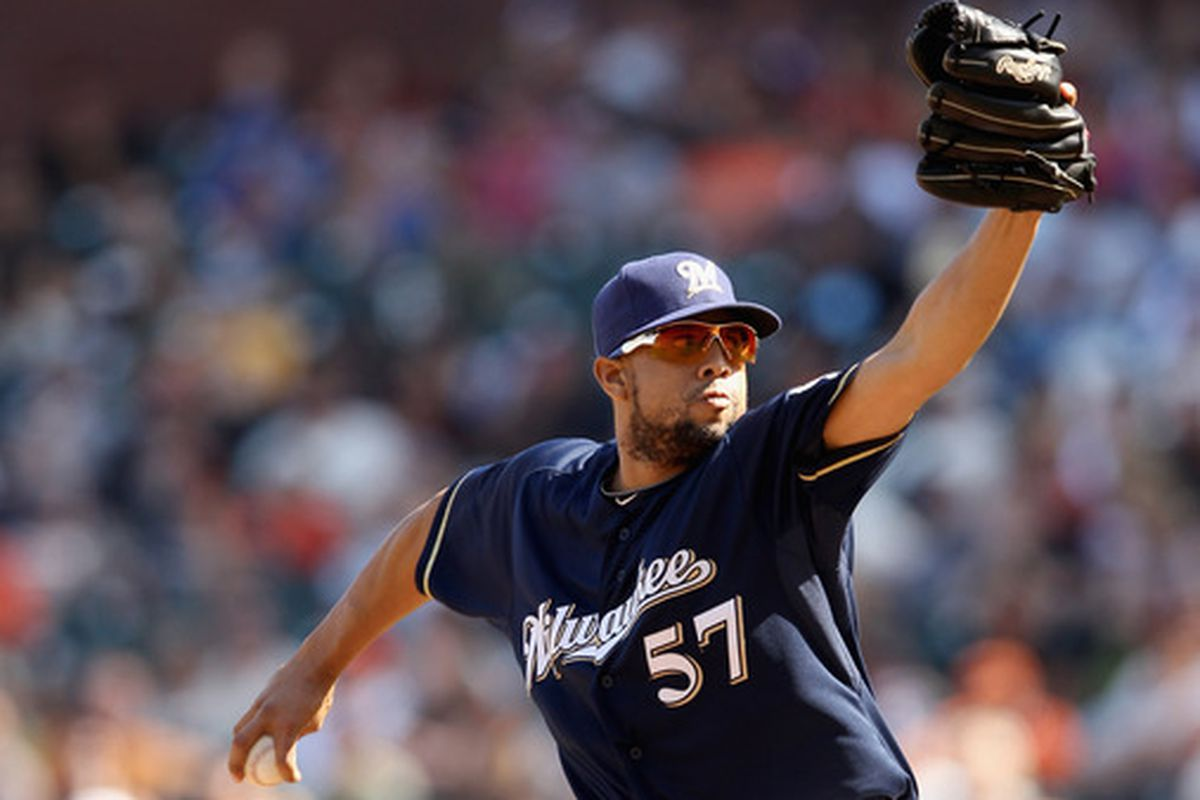 Francisco Rodriguez will likely take over for Jim Henderson as Brewers closer if he misses time with a hamstring injury.