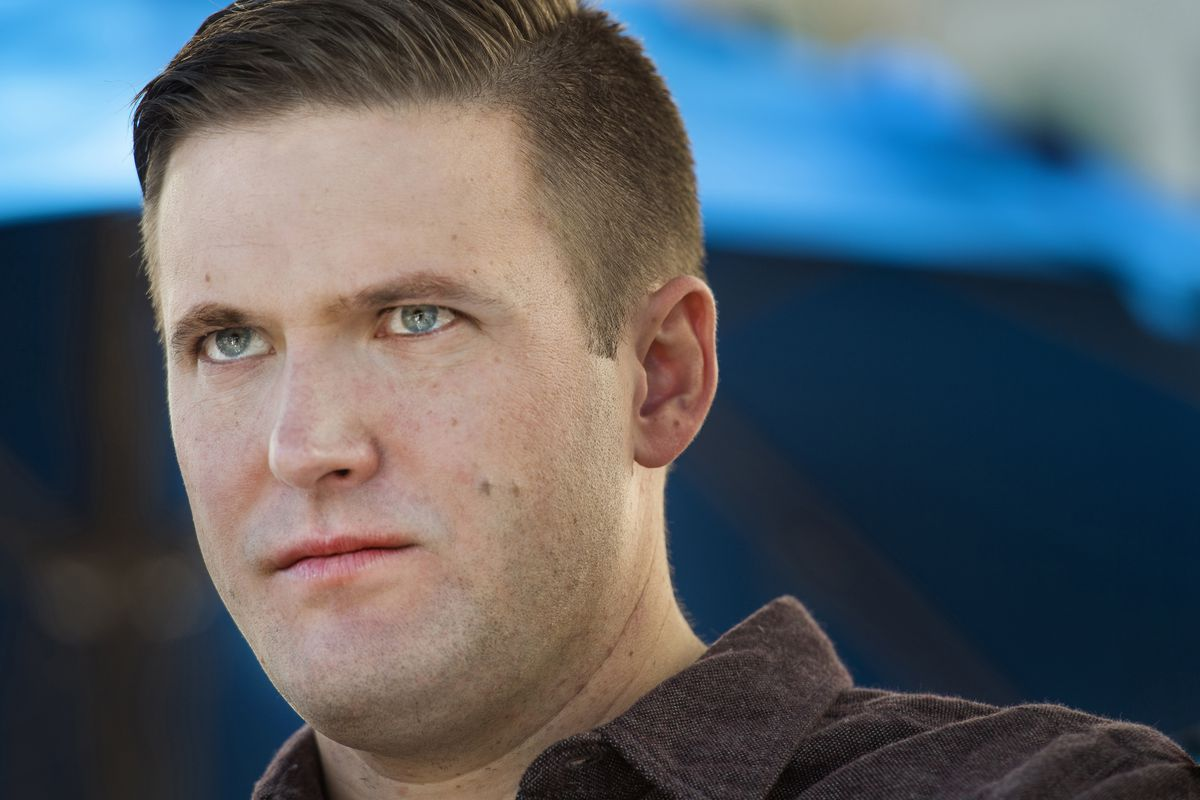 """""""Terrible things were done to many different people during that terrible war,"""" alt-right leader (and sometime Trump supporter) Richard Spencer — pictured — has said."""