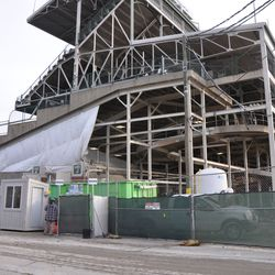 Wider view of the northwest corner of the ballpark