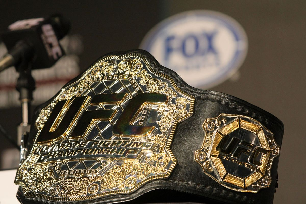 The winner of Saturday night's main event will walk out of the Octagon as the proud new owner of the interim UFC Welterweight title belt. (Photo by Victor Decolongon/Getty Images)