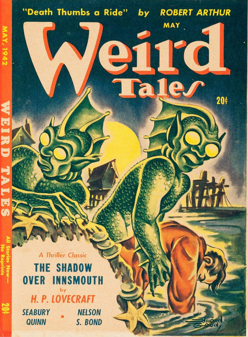 "The cover of the magazine ""Weird Tales"" from 1942."