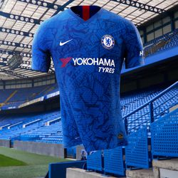 finest selection 45b0f 45b92 Chelsea introduce 2019-20 home kit with Eden Hazard front ...