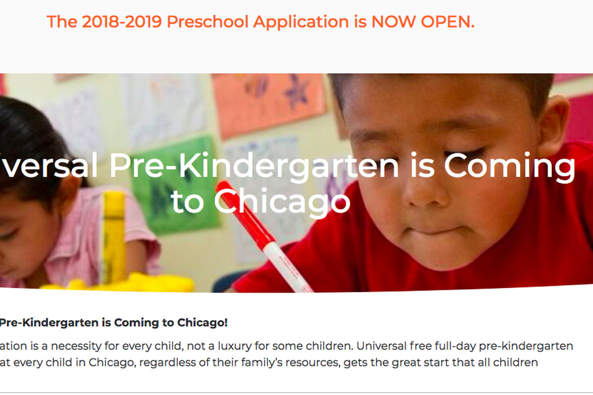 Families can apply to preschool through Chicago's early learning portal beginning in April.