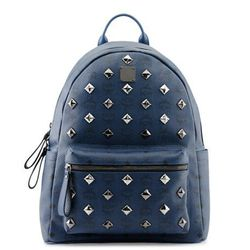 """<b>MCM</b> Stark backpack, $850 at Bloomingdale's and <a href=""""http://www.mcmworldwide.com/"""">MCM</a> Shops at the Plaza"""