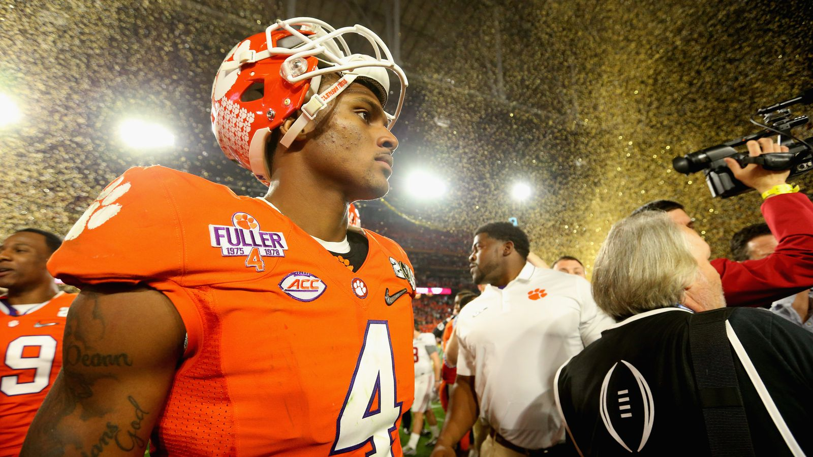 fab025db9 ... purple 1975 1978 fuller stitched youth ncaa jersey deshaun watson is  officially a megastar after his