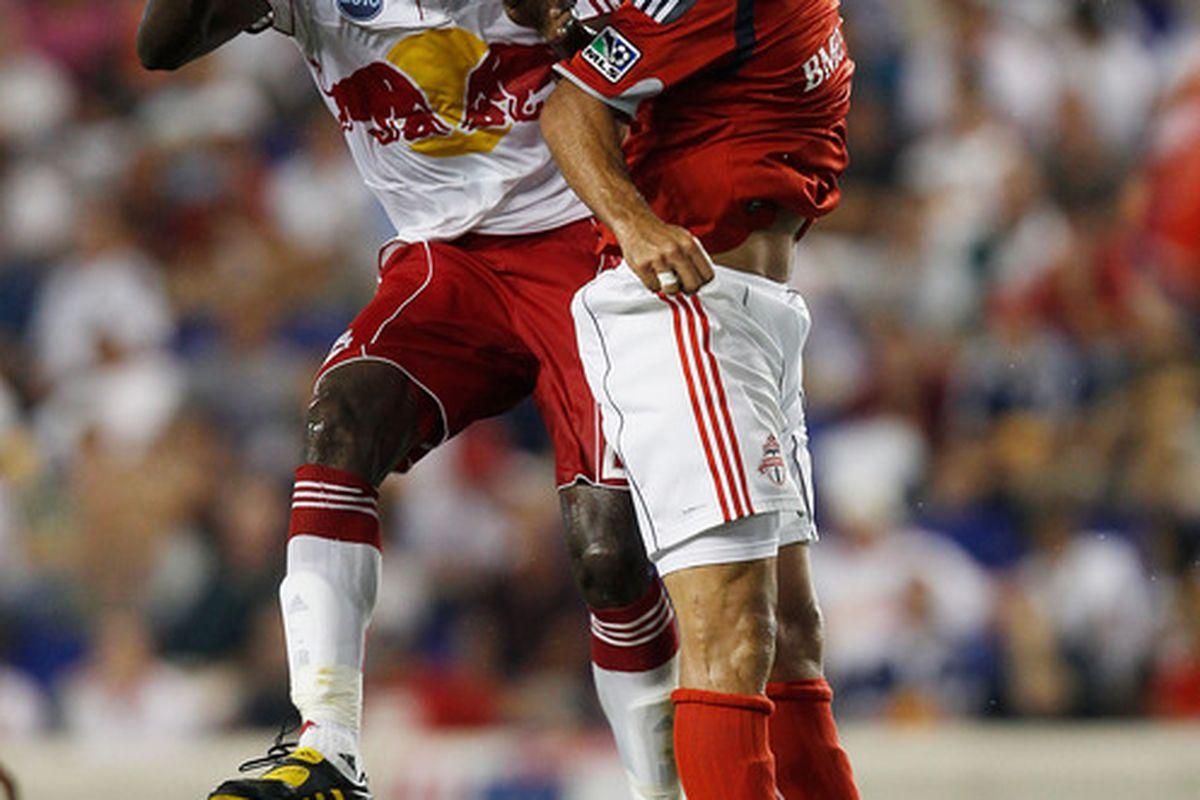 Tchani and De Rosario last year -- irony win.