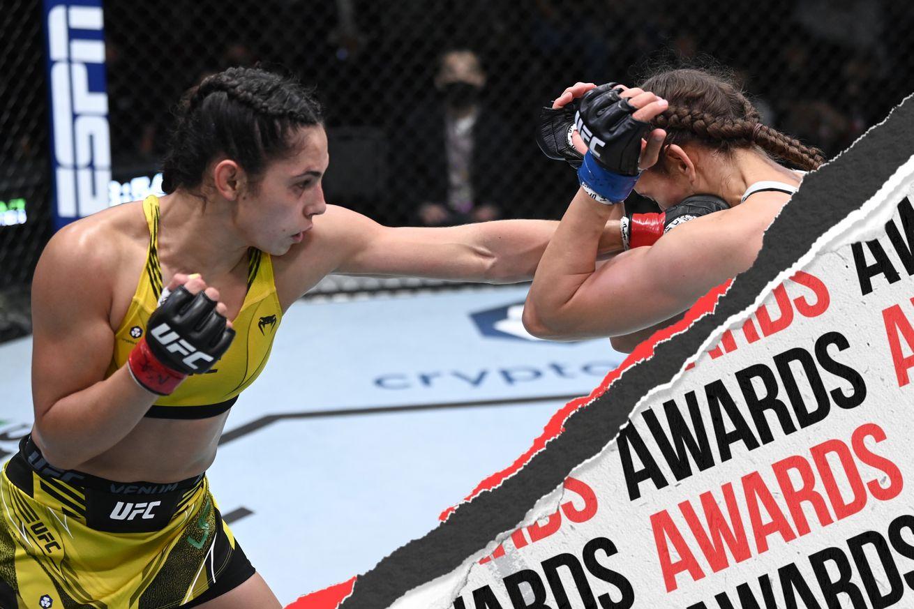<label itemprop='headline'><a href='https://www.mvpboxing.com/news/mma/1632103717/UFC-Vegas-37-Smith-vs-Spann-Unofficial-Awards?ref=headlines' itemprop='url' class='headline_anchor news_link'>UFC Vegas 37: Smith vs. Spann - Unofficial Awards</a></label><br />Ariane Lipski fighting Mandy Bohm at UFC Vegas 37 | Photo by Jeff Bottari/Zuffa LLC  Get a unique