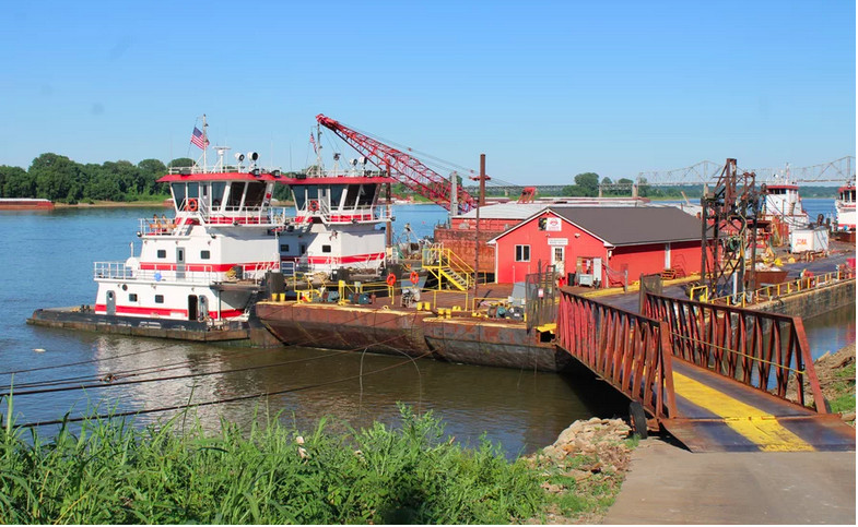 Tourists still stop by to see the confluence of the Mississippi and Ohio rivers in Cairo, where commercial ships dock on the banks.