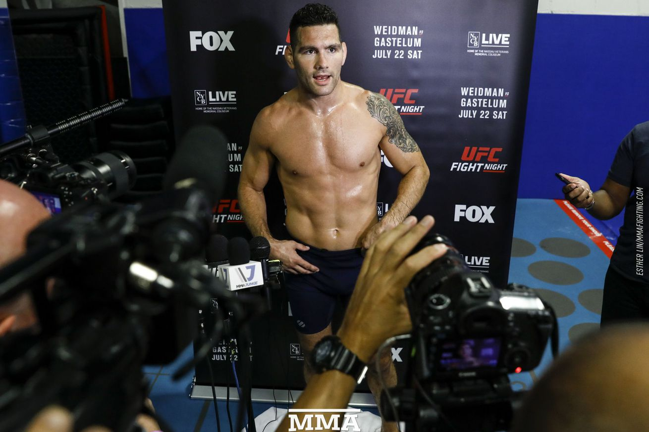For UFC on FOX 25, Chris Weidman finds himself in the most unideal ideal situation possible