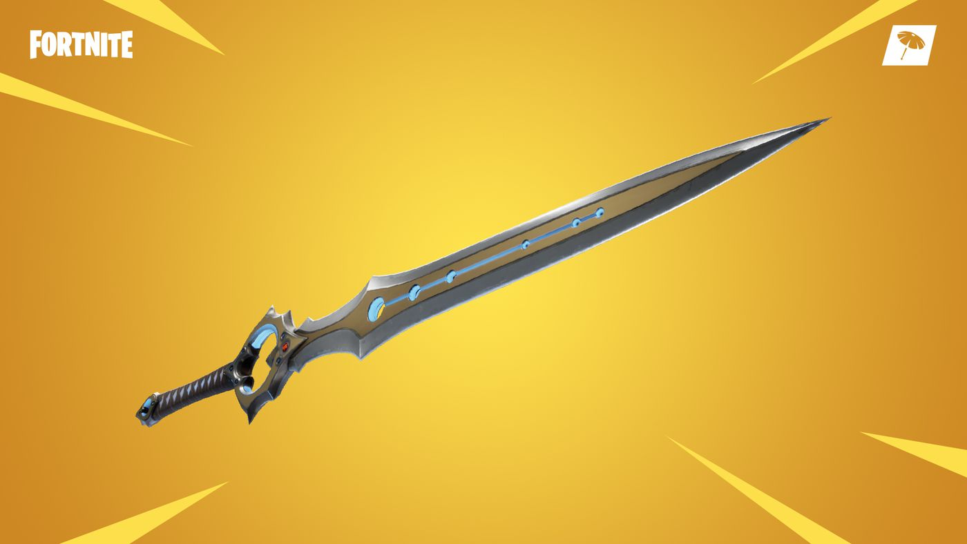 The infinity blade arrives in fortnite's with patch v7. 01 polygon.