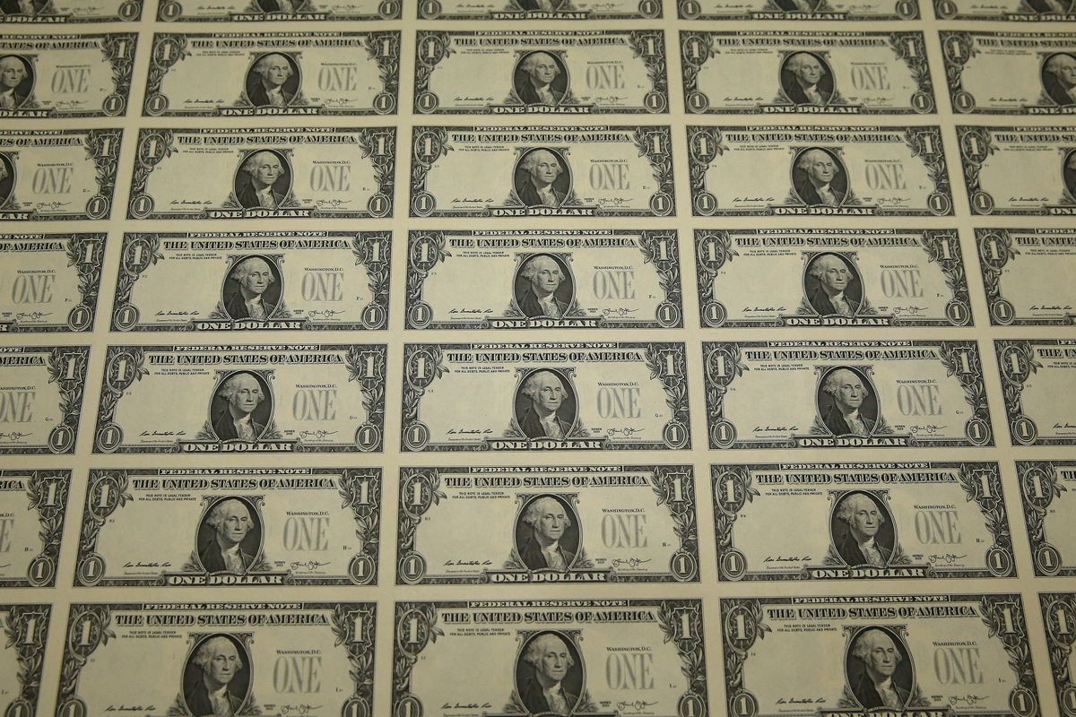 U.S. Bureau Of Engraving And Printing Oversees Dollar Bill Production