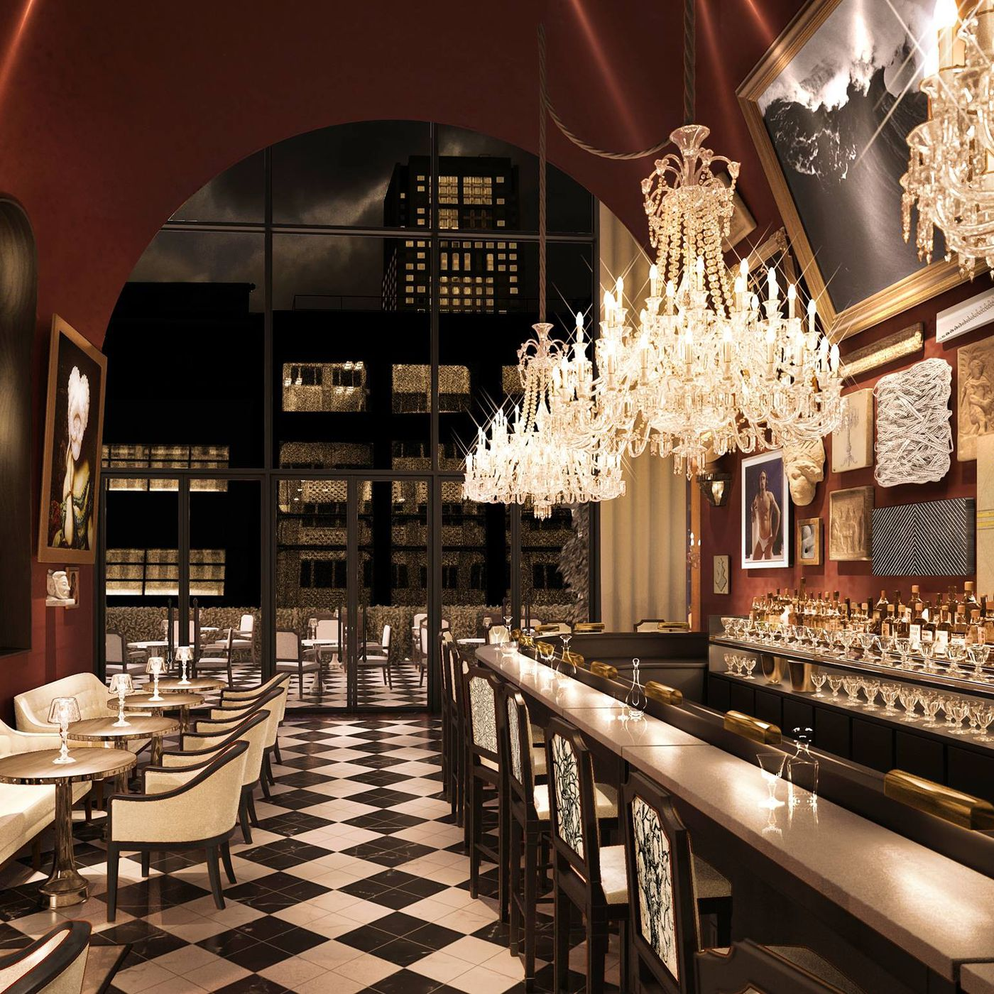 Opening Alert Sip Cocktails in the Crystal Clad Baccarat Hotel in