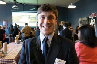 Jon Gutknecht attended Tuesday night's Teach901 job fair. He will graduate from the University of Memphis in a few weeks and wants to teach science.