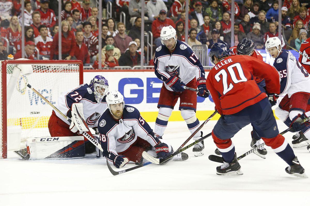 NHL: Columbus Blue Jackets at Washington Capitals