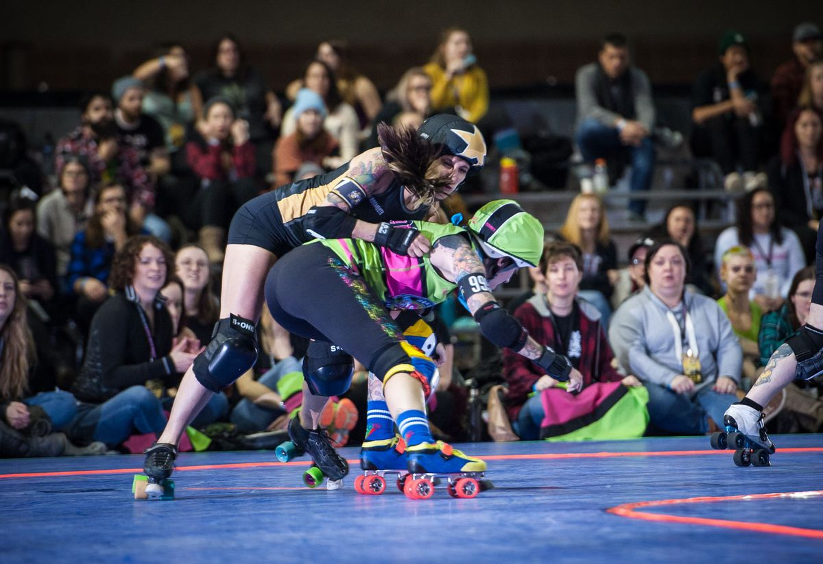 Trans and cis women compete in roller derby