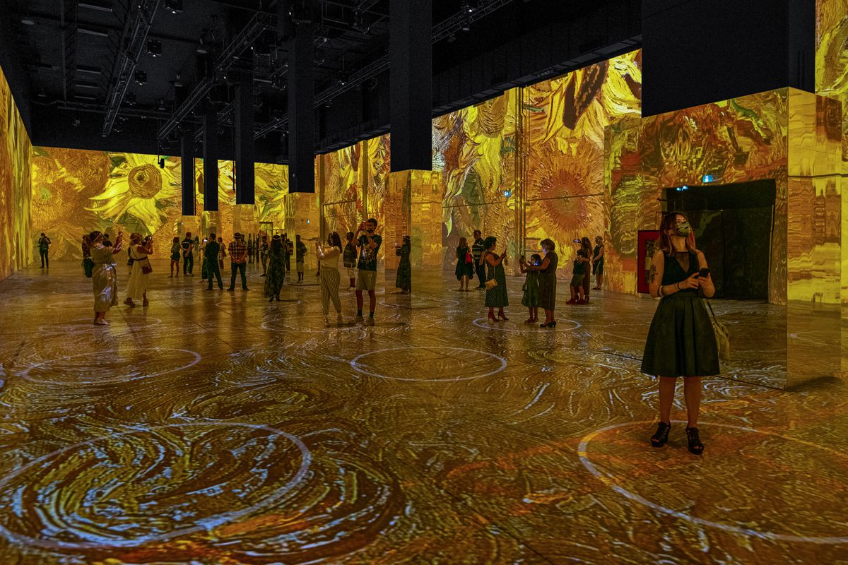 Image result for van gogh immersive experience images