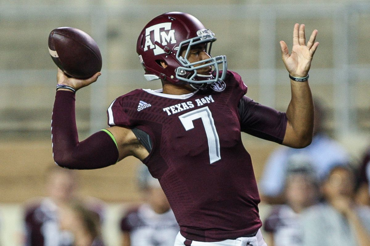 Who knows how often we'll have Texas A&M in the Anarchist's Guide, so here's Aggies QB Kenny Hill.