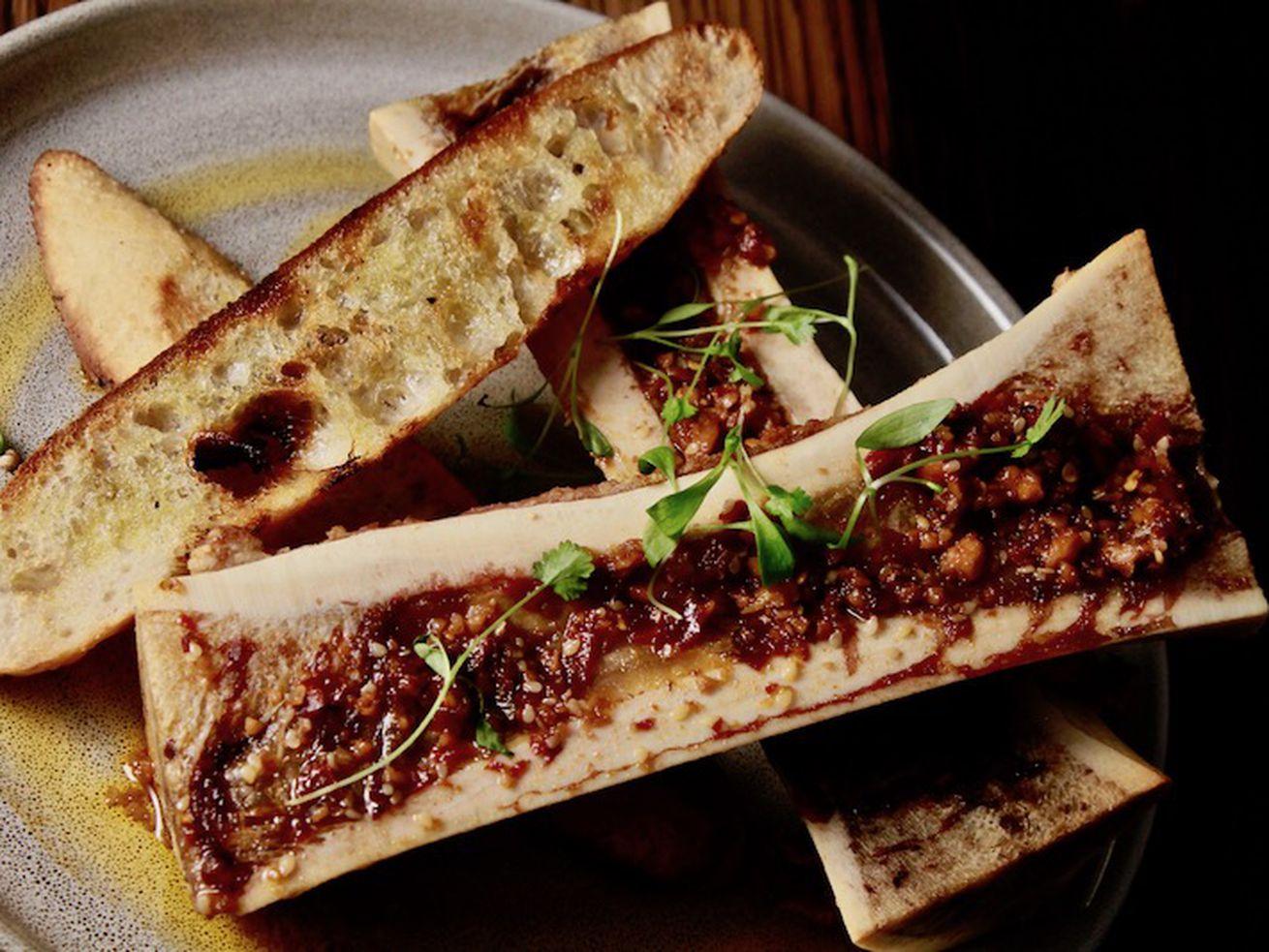 Roasted bone marrow at Bar Sótano