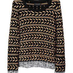 """<b>Rag & Bone</b> Lisbeth Crew Sweater, <a href=""""http://www.rag-bone.com/Lisbeth_Crew/pd/np/150/p/3509.html"""">$450</a>"""