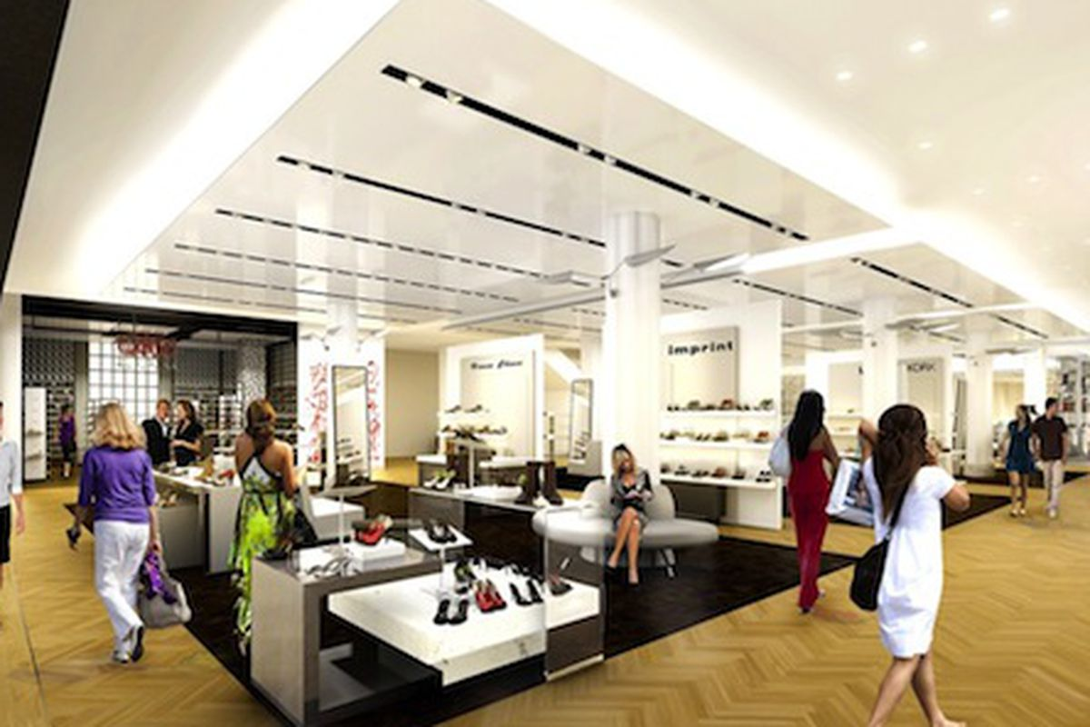 """Image via <a href=""""http://www.wwd.com/retail-news/department-stores/macys-goes-big-with-worlds-largest-shoe-floor-6154875/slideshow#/slideshow/article/6154875/6155946"""">WWD</a>"""
