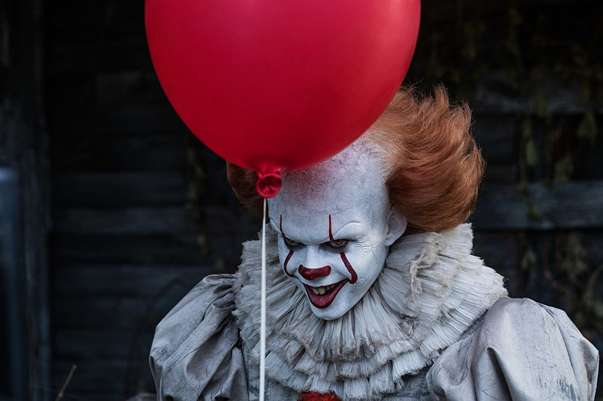 Pennywise with the red balloon